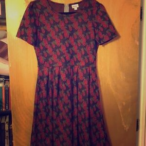 LuLaRoe L Amelia Dress EUC